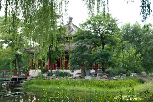 Parc Yuanmingyuan de Pékin, Photo prise le 02 Aout 2008.